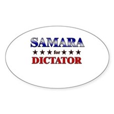 SAMARA for dictator Oval Decal