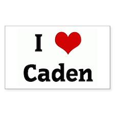 I Love Caden Rectangle Decal