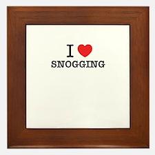 I Love SNOGGING Framed Tile