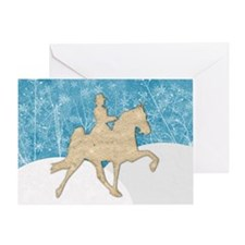 Gaited Horse Snow Greeting Card