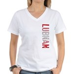 Lubnan Stamp Women's V-Neck T-Shirt