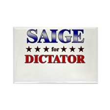 SAIGE for dictator Rectangle Magnet