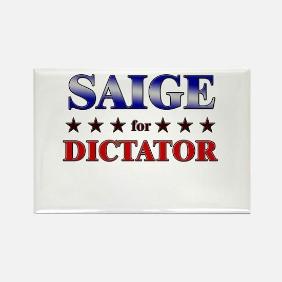 SAIGE for dictator Rectangle Magnet