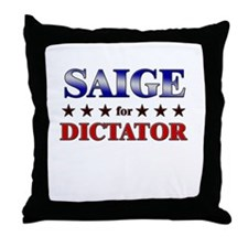 SAIGE for dictator Throw Pillow