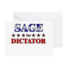 SAGE for dictator Greeting Card