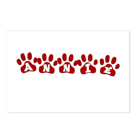 Annie Paw Prints Postcards (Package of 8)