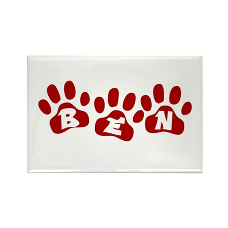 Ben Paw Prints Rectangle Magnet (10 pack)