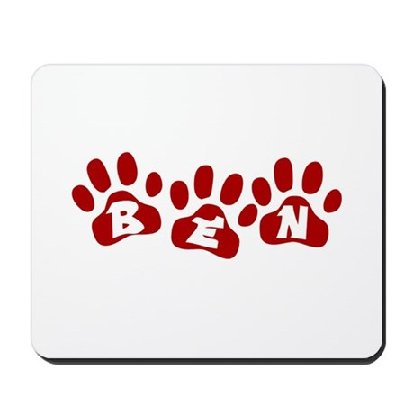 Ben Paw Prints Mousepad