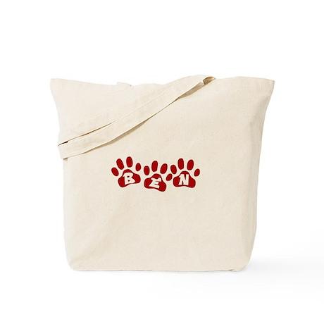 Ben Paw Prints Tote Bag