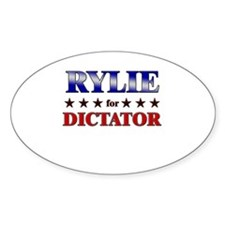 RYLIE for dictator Oval Decal