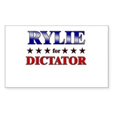 RYLIE for dictator Rectangle Decal