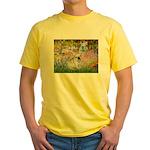 Garden / Fr Bulldog(f) Yellow T-Shirt