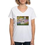 Garden / Fr Bulldog(f) Women's V-Neck T-Shirt