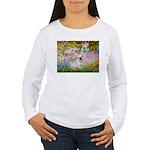 Garden / Fr Bulldog(f) Women's Long Sleeve T-Shirt