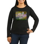 Garden / Fr Bulldog(f) Women's Long Sleeve Dark T-