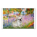 Garden / Fr Bulldog(f) Sticker (Rectangle)