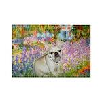 Garden / Fr Bulldog(f) Rectangle Magnet