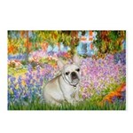 Garden / Fr Bulldog(f) Postcards (Package of 8)
