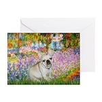 Garden / Fr Bulldog(f) Greeting Cards (Pk of 20)