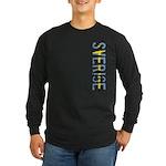 Sverige Stamp Long Sleeve Dark T-Shirt