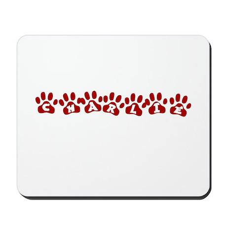 Charlie Paw Prints Mousepad