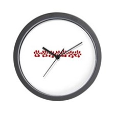 Chester Paw Prints Wall Clock