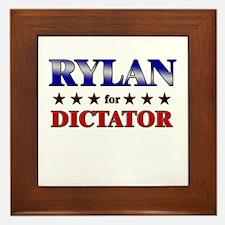 RYLAN for dictator Framed Tile