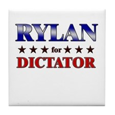 RYLAN for dictator Tile Coaster