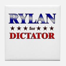 RYLAN for dictator Tile Coaster