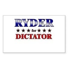 RYDER for dictator Rectangle Decal