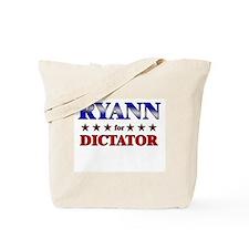 RYANN for dictator Tote Bag
