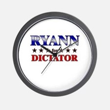 RYANN for dictator Wall Clock