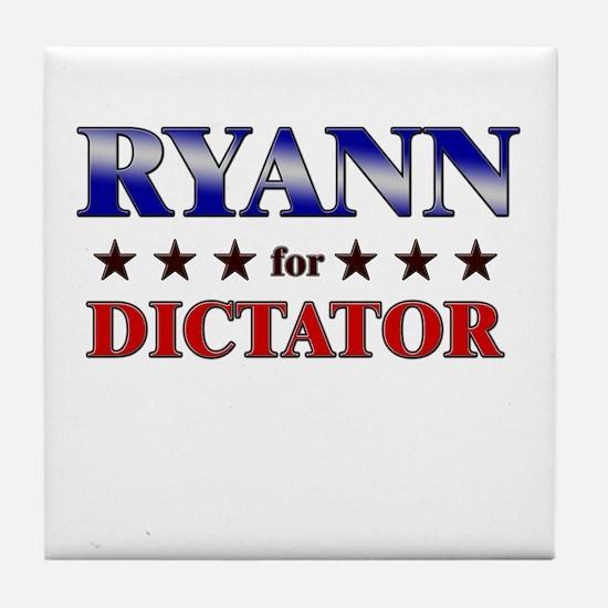 RYANN for dictator Tile Coaster