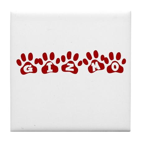 Gizmo Paw Prints Tile Coaster