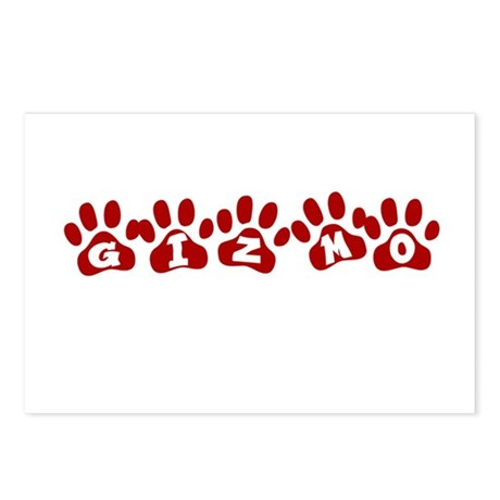 Gizmo Paw Prints Postcards (Package of 8)