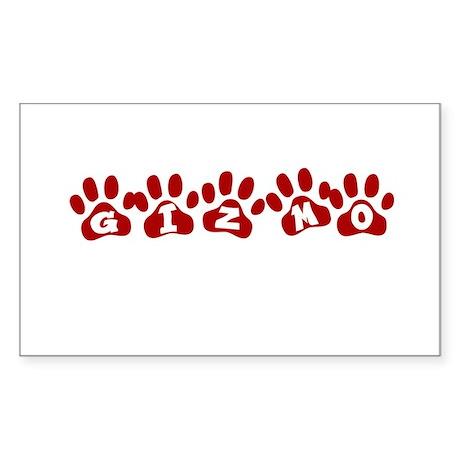 Gizmo Paw Prints Rectangle Sticker