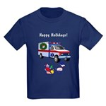 EMS Happy Holidays Greetings Kids Dark T-Shirt