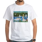 Sailboats / Fr Bulldog(f) White T-Shirt