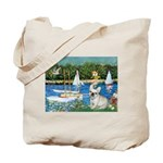 Sailboats / Fr Bulldog(f) Tote Bag