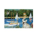 Sailboats / Fr Bulldog(f) Rectangle Magnet