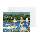 Sailboats / Fr Bulldog(f) Greeting Card
