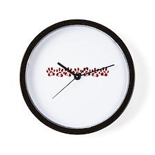 Hershey Paw Prints Wall Clock