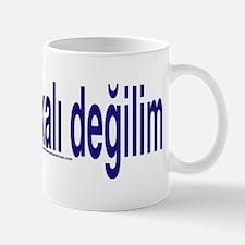 """I am not American"" Turkish Mug"