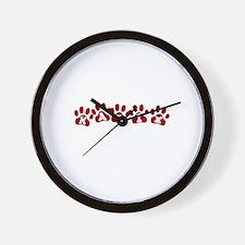 Katie Paw Prints Wall Clock