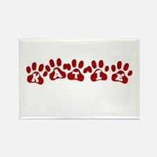 Katie Paw Prints Rectangle Magnet
