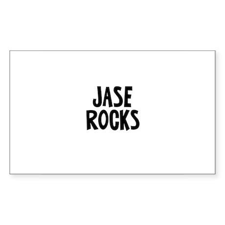 Jase Rocks Rectangle Sticker