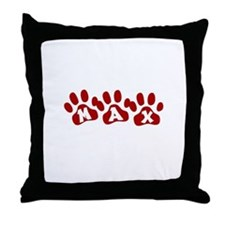 Max Paw Prints Throw Pillow