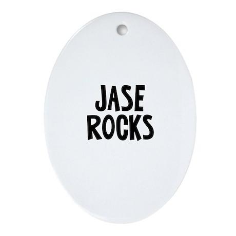 Jase Rocks Oval Ornament