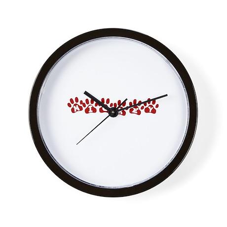 Mickey Paw Prints Wall Clock