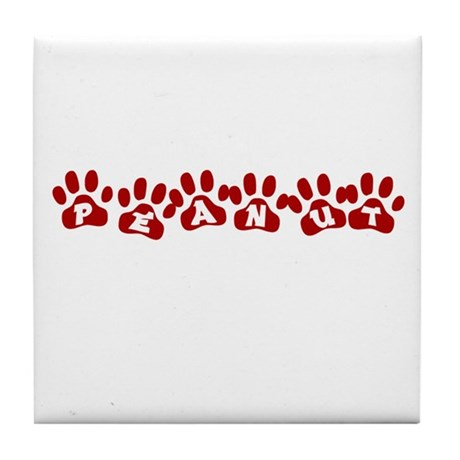 Peanut Paw Prints Tile Coaster